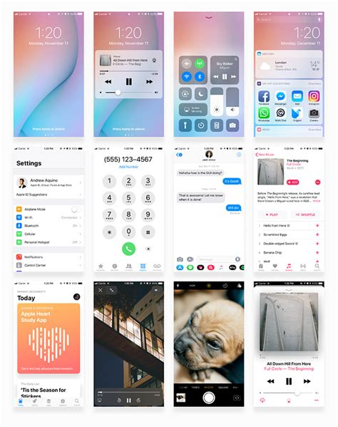 facebook themes ios facebook ios 11 iphone gui free download