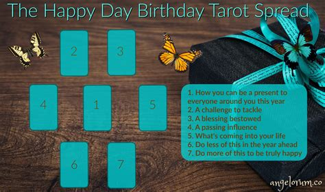 Gift Card Spread Phone Number - the happy day birthday tarot spread