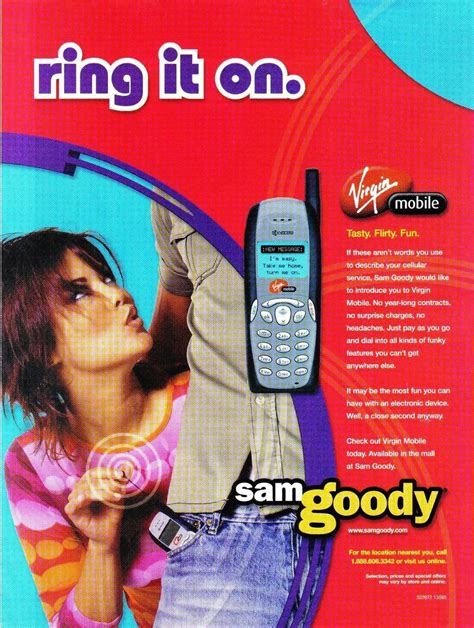 Sam Goody Gift Card - virgin mobile sam goody full page color print ad ring it on near mint 1990 now
