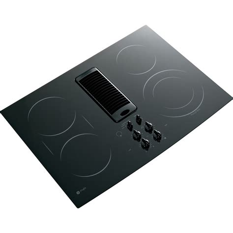 Ge Electric Cooktop With Downdraft shop ge profile 5 element smooth surface downdraft electric cooktop black common 30 in