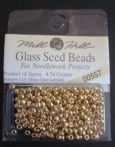 Mill Hill Glass Seed 42102 mill hill glass seed for needlework projects 00557 gold