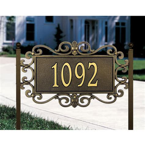 hanging address plaques for l post decorative house address signs house decor