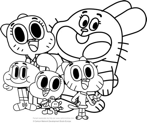 amazing coloring pages amazing world of gumball coloring pages to print printable