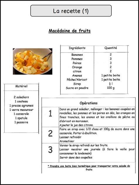 phrase cuisine davaus modele fiche recette cuisine word avec des
