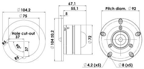 Scanspeak R2604 833000 Tweeter By Cartens Store scanspeak discovery r2604 8330 tweeter dual ring radiator