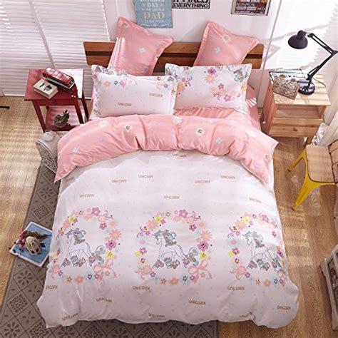 unicorn twin bedding sheet pillowcase sets 4pcs magic unicorn print bedding