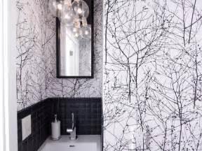 gallery small black white bathroom