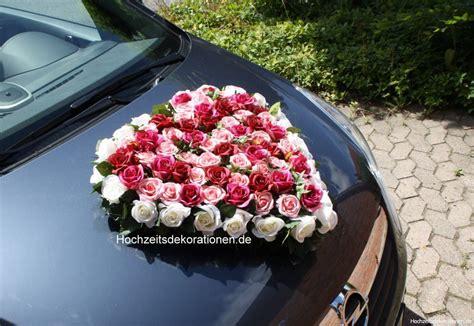 Hochzeitsdekoration Herz by Autoherz Blumen Mix Hochzeitsdekorationen