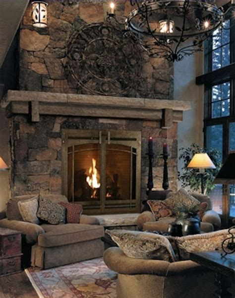 Stone Fireplace with mantle and hearth it's ok but I