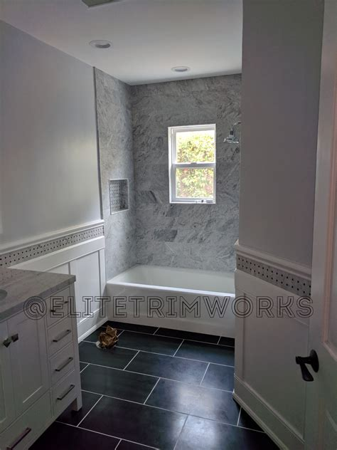 tile  wainscoting  lovely combination elite