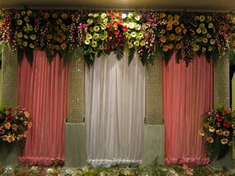 Wedding decorations simple stage, beautiful wedding