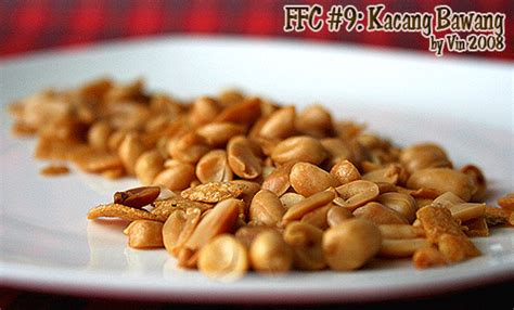 makanan ringan resep kacang bawang renyah