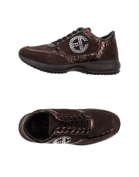 Enrico Shoes Brown S Baldo lyst enrico coveri low tops trainers in brown