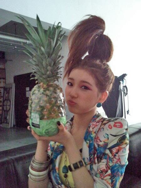 pineapple on short hair miss a s suzy has pineapple hair allkpop com