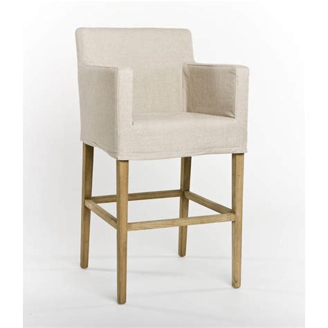counter stool slipcovers zentique avignon slipcover bar stool