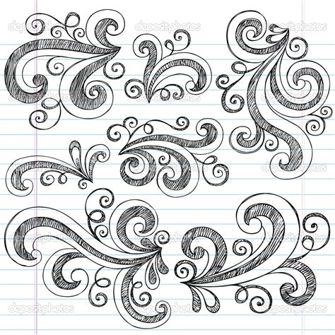 draw doodle decorate design elements doodle artsy patterns prints