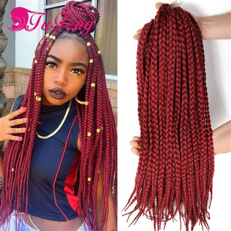 hair to use for box braids box braid crochet hair extensions hairpieces for women box