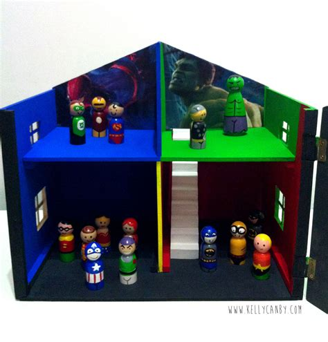 doll house boys superhero doll house