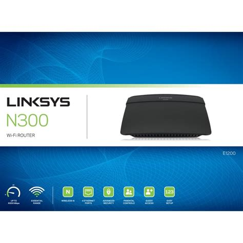 E 1200 Linsys Wireless Router N300nbps linksys e1200 wireless n cable router ebuyer