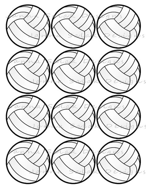 free printable volleyball tags 2 5 quot volleyball printable cupcake toppers sports theme