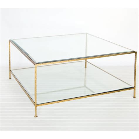 gold square coffee table popular square clear glass coffee table beveled edge top