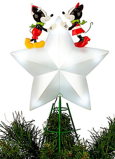 disney tree toppers for christmas trees disney mickey and minnie mouse light up tree topper new