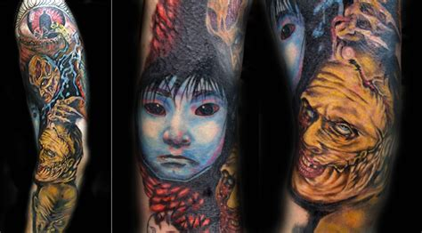 tattoo japanese movie doulgas billian horror sleeve