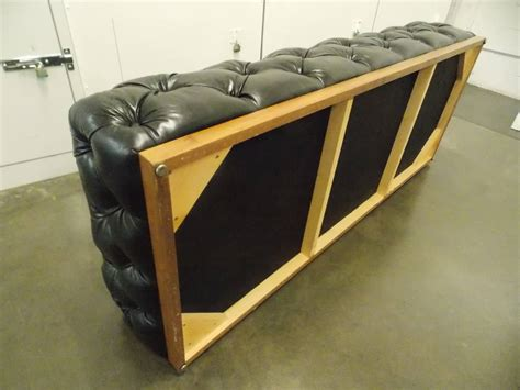 chesterfield bench milo baughman leather chesterfield bench or daybed at 1stdibs