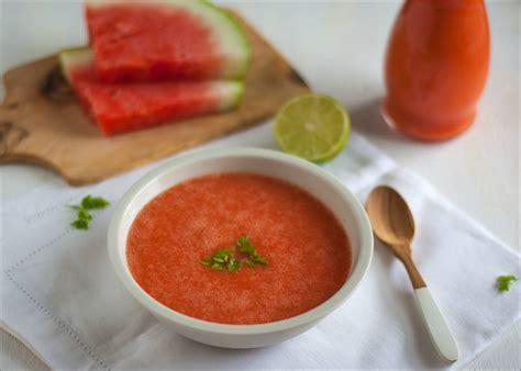 chilled watermelon soup recipe dishmaps