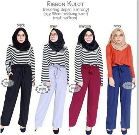 Kulot Ribon by Jual Ribbon Kulot Celana Kulot Wanita Di Lapak