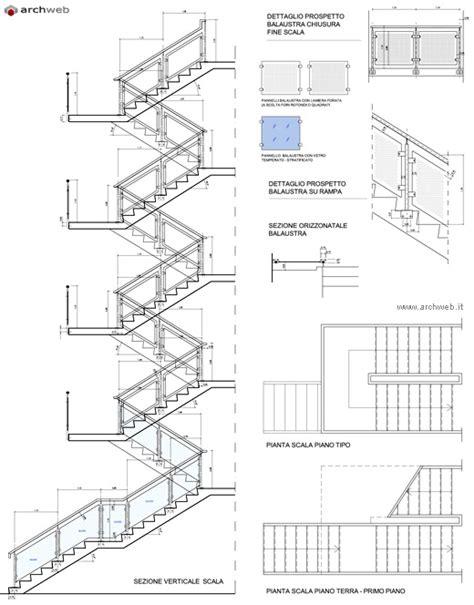 scale interne dwg scala con struttura monotrave in c a