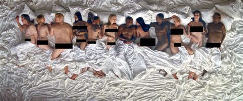 kanye west bed kanye west s famous music video features naked celebs
