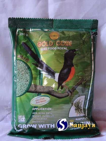 Gold Coin Pakan Burung Perkutut gold coin bird food royal obat si kicau