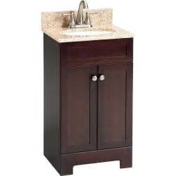 18 in bathroom vanity cabinet shop style selections 18 1 2 in espresso longshire single