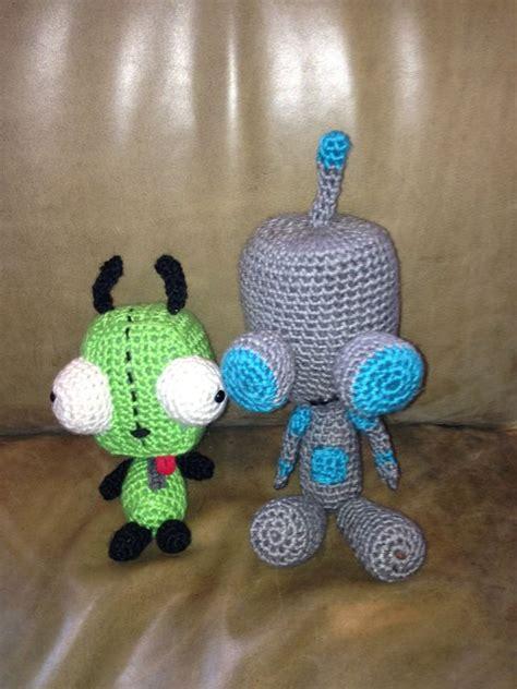 amigurumi gir pattern diy craft crochet invader zim gir the dog and gir the