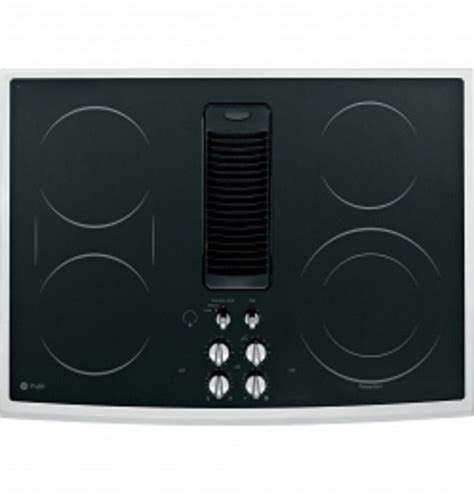 cooktops with downdrafts ge profile 30 quot electric downdraft cooktop pp989snss
