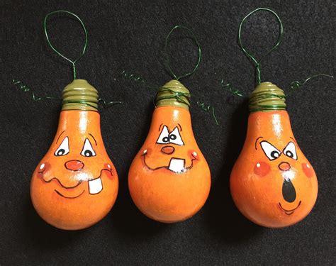 ornament bulbs pumpkin light bulb ornaments