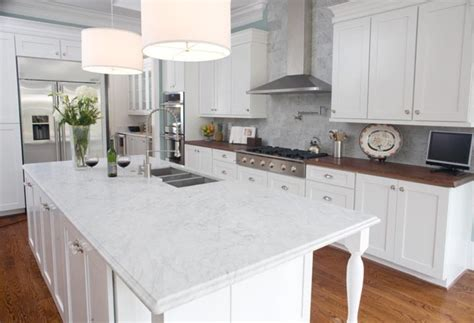 White Marble Countertops Using Marble For Kitchen Countertops Design Bookmark 3181