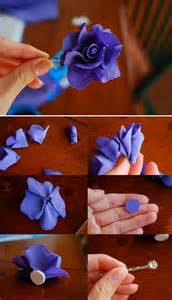 Material Flowers Diy - inspirations by d diy fabric flower hair pin