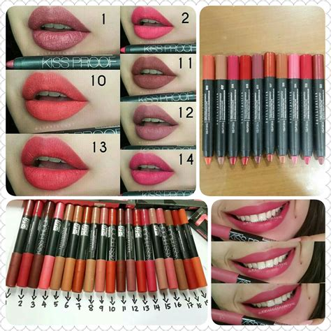 Ecer No 9 Kissproff Lipstick Matte Longlasting By Menow Me Now lipstick proof matte