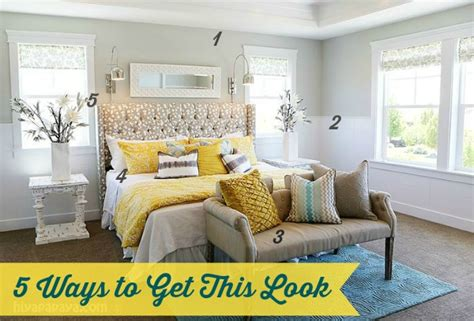 yellow and grey master bedroom 5 ways to get this look calm master bedroom