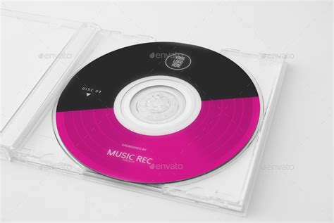 minimal music cd cover template by dogmadesign graphicriver