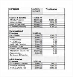 sample chruch budget templates 12 free documents in