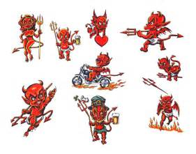 small devil tattoos on and