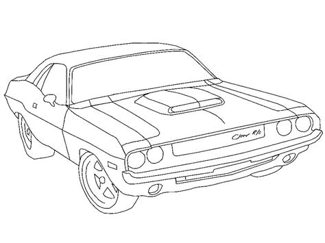 rt template 1970 dodge charger free colouring pages