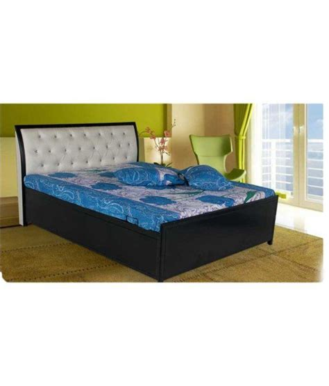 bed head rest queen size hydraulic storage bed with leatherette head