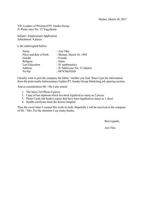 contoh surat lamaran kerja terbaru 2016 contoh cv lamaran kerja bagi pemula ben jobs burung labet