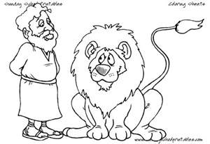 daniel in the s den coloring page free christian coloring pages for children and