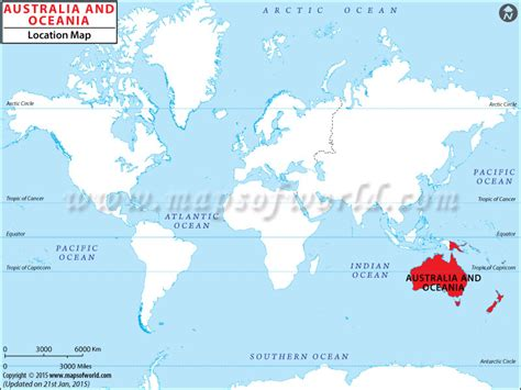 where is oceania on the world map where is oceania oceania location in world map