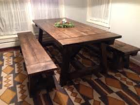 Farmhouse Dining Table With Bench The Simple Farmhouse Dining Table Designwalls